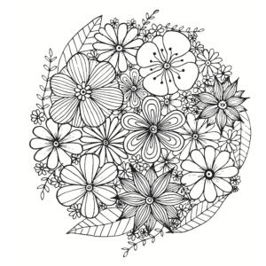 FloresColorear